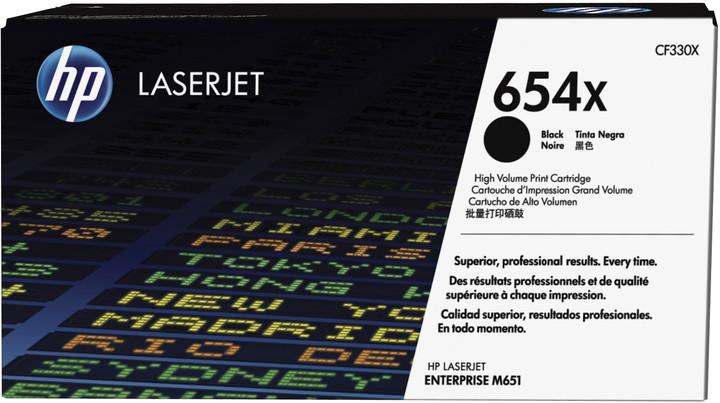 HP 654X, černá