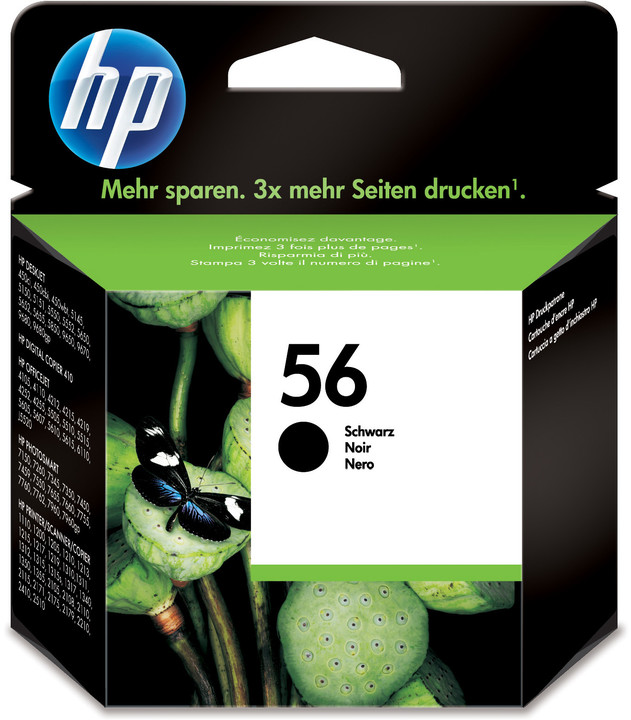 HP C6656AE, no.56, černá