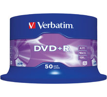 Verbatim DVD+R 16x 4,7GB spindl 50ks - 43550