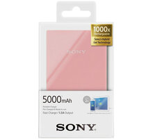 Sony CP-V5ACP přenosný zdroj USB, 5000mAh, růžová