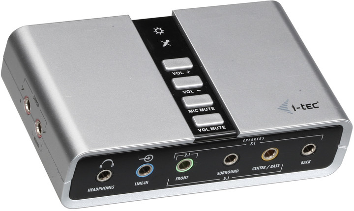 i-Tec USB 7.1 externí zvuková karta - SPDIF in/out - USB Channel Audio Adapter