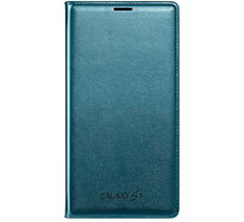 Samsung flipové pouzdro s kapsou EF-WG900B pro Galaxy S5, topaz - EF-WG900BGEGWW