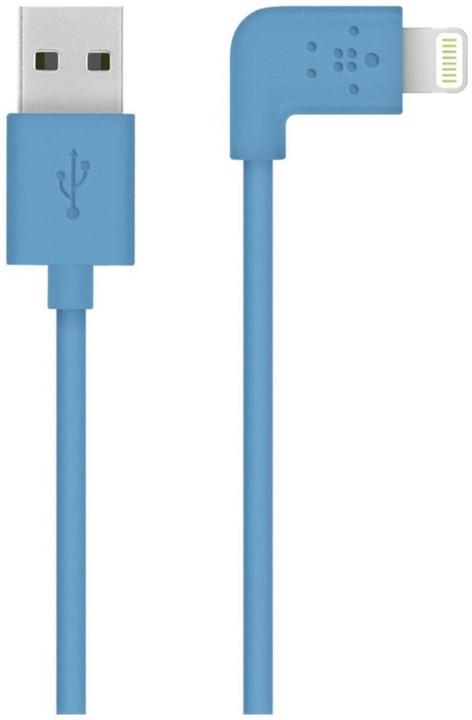 Belkin Mixit s Lightning konektorem, 90°, 1.2m, modrá