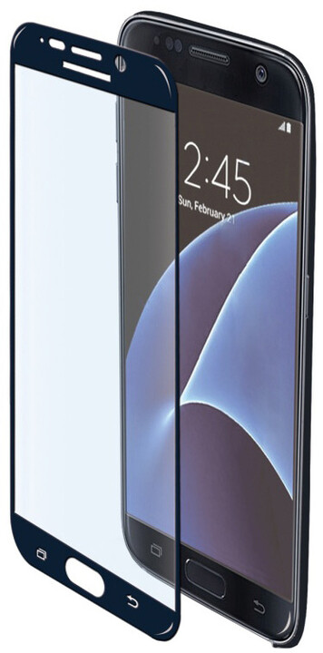 CELLY Glass ochranné tvrzené sklo pro Samsung Galaxy S7, černé