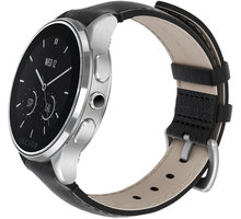 Vector SmartWatch Luna-Brushed Steel/Black Padded Leather/Sml Fit - L1-10-015