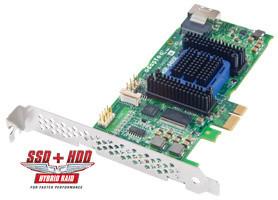 ADAPTEC RAID 6405 Entry Kit SAS 2/ SATA 2, PCI Express x1, 4 porty