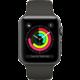 Apple Watch series 3 38mm pouzdro vesmírně šedá/šedý řemínek