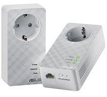 ASUS HomePlug 600Mbps Powerline adapter (2ks) - 90IQ0070-BM0000 + Webshare VIP Silver, 1 měsíc, 10GB, voucher zdarma
