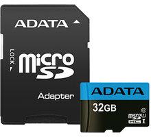 ADATA Micro SDHC Premier 32GB 85MB/s UHS-I U1 + SD adaptér - AUSDH32GUICL10 85-RA1