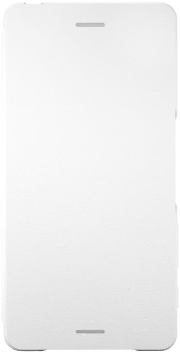 Sony SCR52 Style Cover Flip Xperia X, bílá