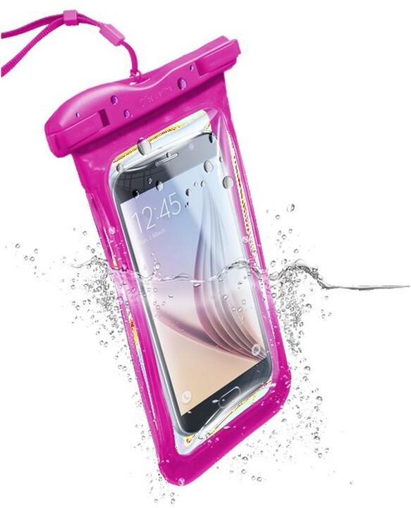 Cellularline VOYAGER voděodolné univerzální pouzdro, růžové