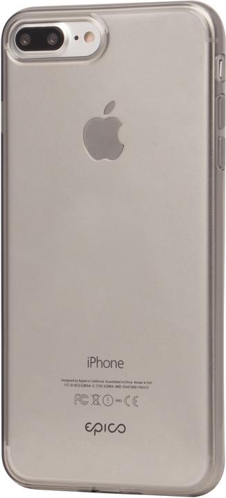 EPICO ultratenký plastový kryt pro iPhone 7 Plus TWIGGY GLOSS, 0.4mm, šedá