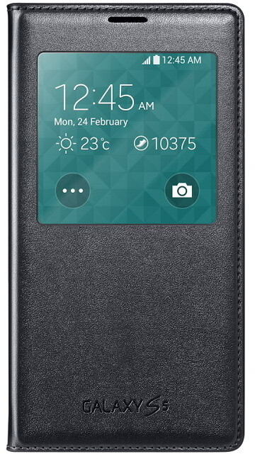 Samsung flipové pouzdro S-View EF-CG900B pro Galaxy S5, černá