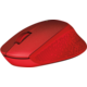 Logitech M330 Silent Plus, červená