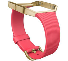 Fitbit Blaze Slim řemínek zlatý kov L, růžová - FB159ABGPKL