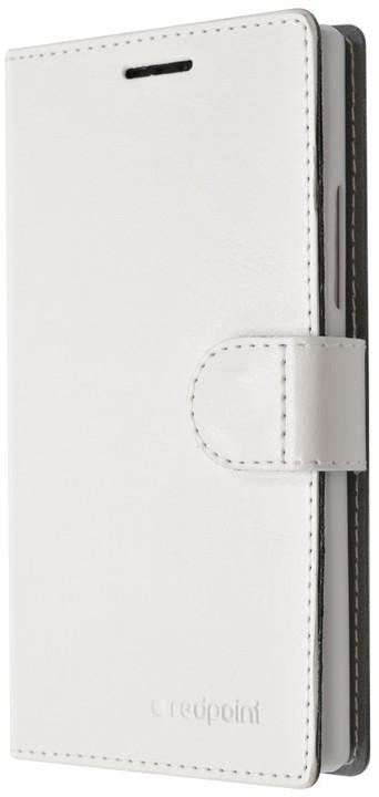 FIXED FIT pouzdro pro Lenovo A6000, kolekce Redpoint, bílá