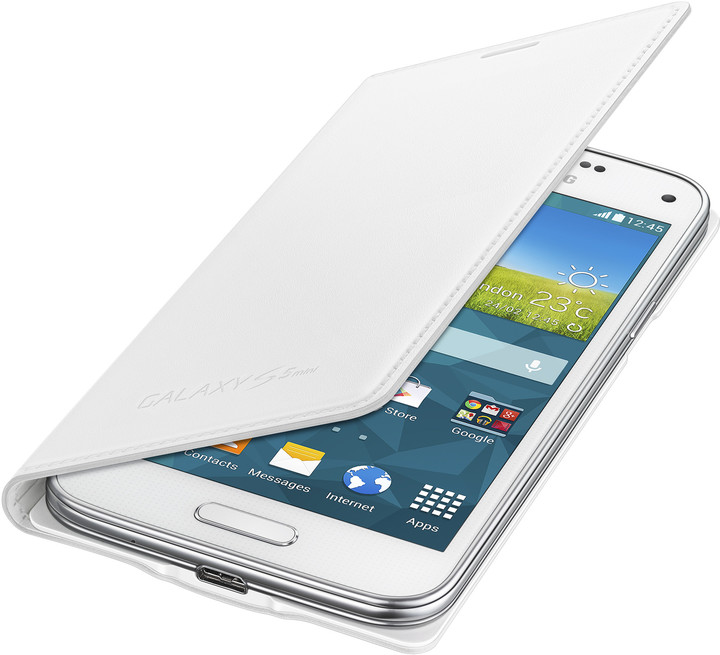 Samsung flipové pouzdro EF-FG800B pro Galaxy S5 mini, bílá
