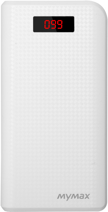 iMyMax Carbon Power Bank 30.000mAh, bílá