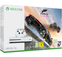 XBOX ONE S, 500GB, bílá + Forza Horizon 3 - ZQ9-00118 + Hra Gears of War 4
