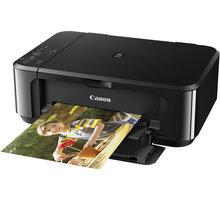 Canon PIXMA MG3650, černá - 0515C006 + PRN Canon Foto papír Plus Glossy II PP-201, 13x18 cm, 20 ks, 260g/m2, lesklý v ceně 179,- + Sluchátka Genius HS-400A (v ceně 259,-)