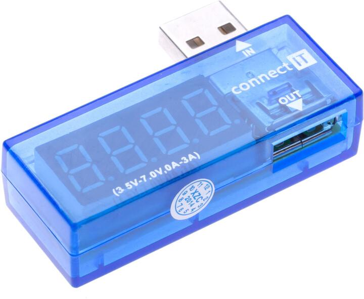 CONNECT IT CI-482, měřič proudu a napětí USD (tester)