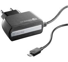 CellularLine nabíječka Qualcom Quick Charge 2.0 s konektorem microUSB, černá - ACHMUSBQUALCOMK