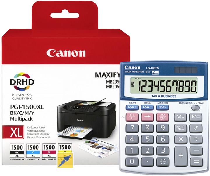 Canon PGI-1500XL Bk/C/M/Y multipack + kalkulačka LS-100