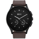 Vector SmartWatch Luna-Brushed Black/Dark Brown Leather/SmL Fit