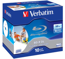 Verbatim BD-R DL, 6x, 50GB, 10 Pack, Printable (43736)