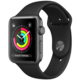 Apple Watch series 3 38mm pouzdro vesmírně šedá/černý řemínek