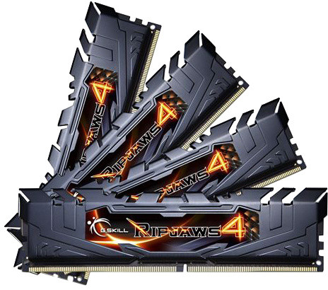 G.SKill Ripjaws4 16GB (4x4GB) DDR4 2400 CL15, black