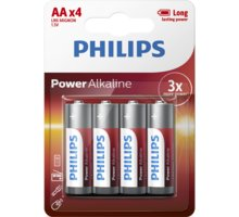 Philips AA PowerLife, alkalická - 4ks - LR6P4B/10