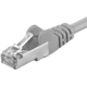Premiumcord Patch CAT6a S-FTP, AWG 26/7 1m šedá