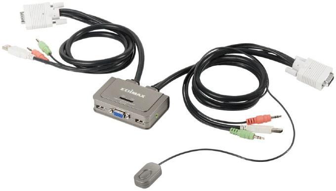 Edimax KVM USB Audio přepínač