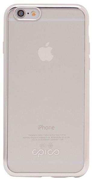 EPICO pružný plastový kryt pro iPhone 6/6S BRIGHT - stříbrná