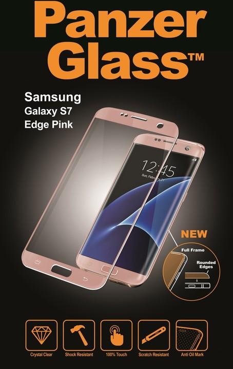PanzerGlass ochranné sklo PREMIUM na displej pro Galaxy S7 Edge, růžová