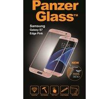 PanzerGlass ochranné sklo PREMIUM na displej pro Galaxy S7 Edge, růžová - 1566