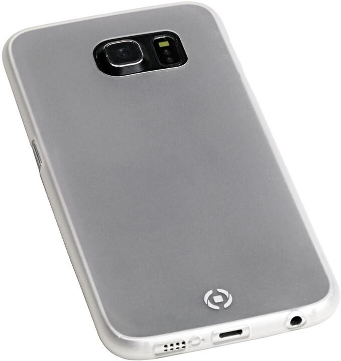 CELLY Frost tenké pouzdro pro Samsung Galaxy S6 Edge, TPU, 0,29mm - bílá