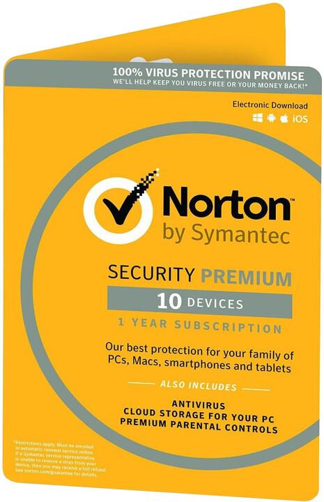 Symantec Norton Security Premium 25GB 3.0 CZ 1 uživatel, 10 zařízení, 1 rok