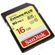 SanDisk SDHC Extreme Plus 16GB 90MB/s UHS-I U3