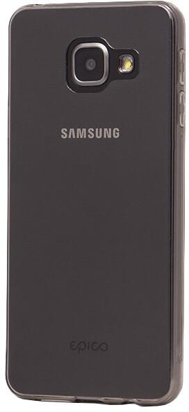 EPICO pružný plastový kryt pro Samsung A3 (2016) RONNY GLOSS - černý transparetní