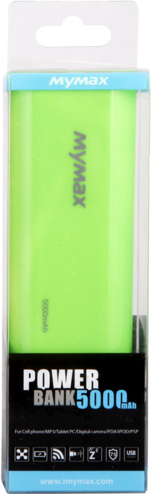 iMyMax Fashion Power Bank 5.000mAh, zelená