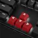 Sharkoon Mechanical Rubber Keyset, Cherry MX/Kailh, červené