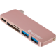 eSTUFF USB C Slot-in Hub Rose
