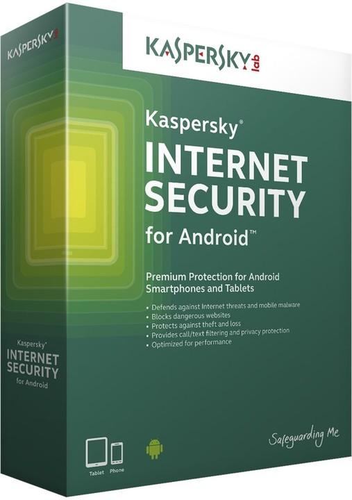 Kaspersky Internet Security pro Android CZ, 2 mobil/tablet, 1 roky, nová licence
