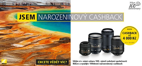 Cashback 800 Kč od Nikonu