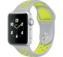 Apple Watch Nike + 38mm Silver Aluminium Case with Flat Silver/Volt Nike Sport Band - MNYP2CN/A
