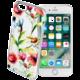 Cellularline STYLE průhledné gelové pouzdro pro iPhone 7, motiv FLOWER