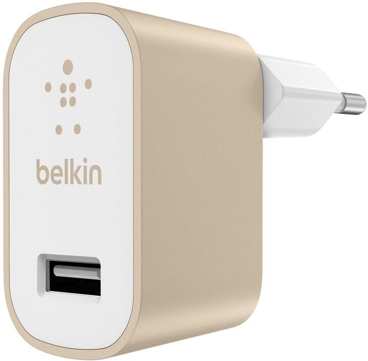 Belkin USB 230V nabíječka MIXIT Metallic 1x2.4A, zlatá