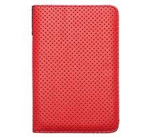 Pocketbook pouzdro pro 614/623/624/626, Dots, červená - PBPUC-623-RD-DT